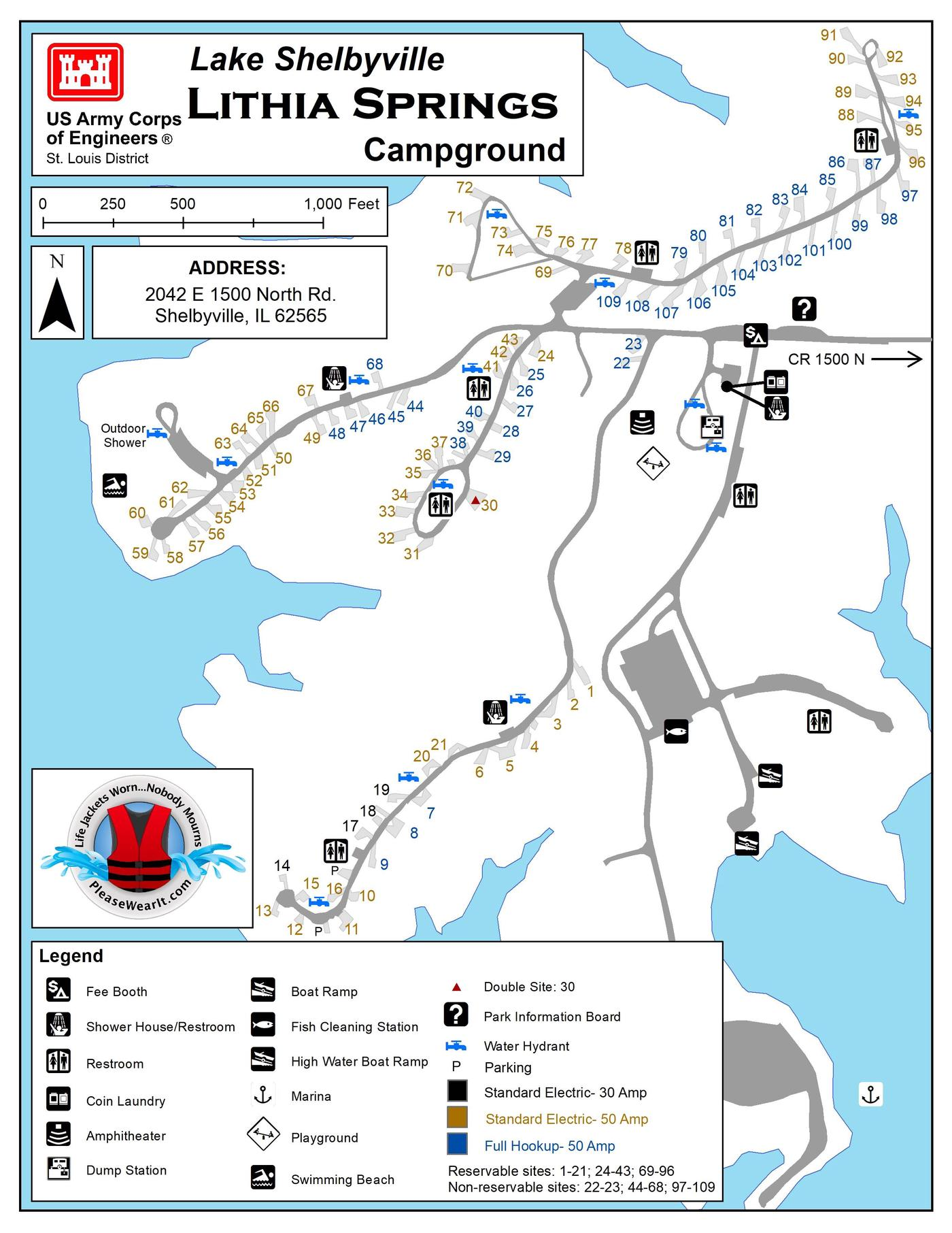 Lithia Springs Campground MapCampground Map 2019