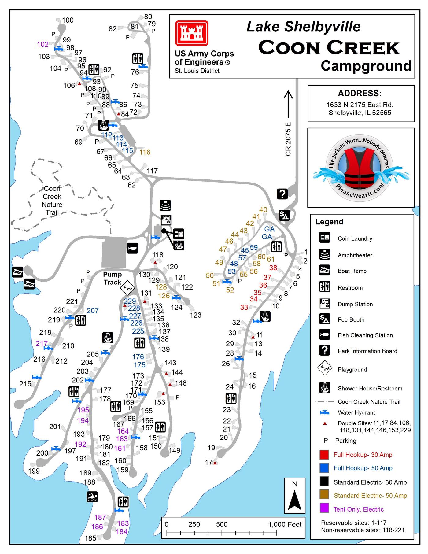 Coon Creek Campground Map