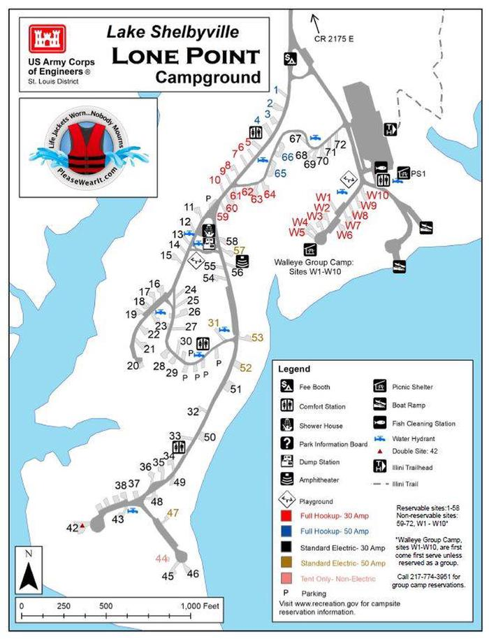 Lone Point Campground Map