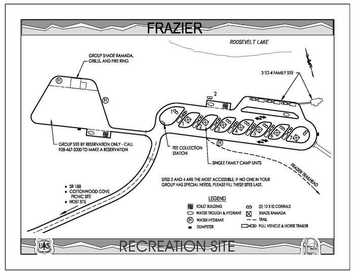 Fraizer Horse Campground MapTonto Basin, AZ