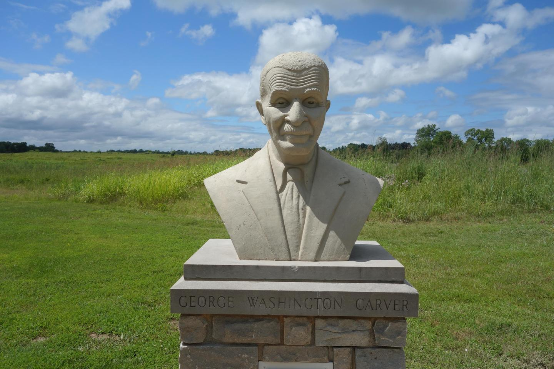 George Washington Carver BustA cast concrete bust for George Washington Carver by Audrey Corwin, 1952.
