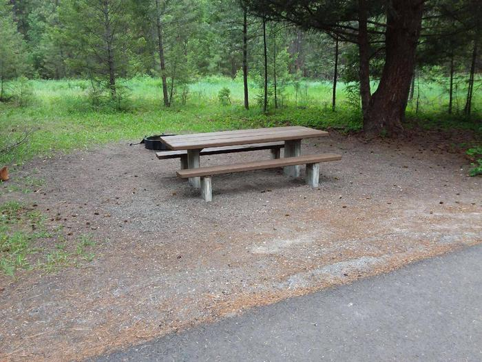 Site 25-tableRexford Bench Site 25