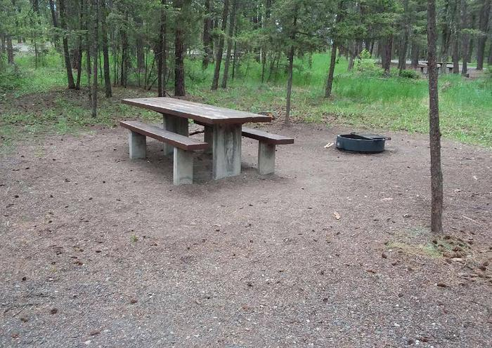 Site 29-tableRexford Bench Site 29