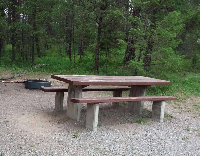 Site 20-tableRexford Bench Site 20