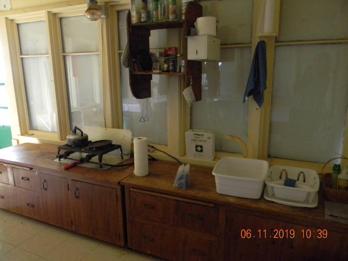 Big Creek Baldy-cookingBig Creek Baldy-cooking burners and wash tubs