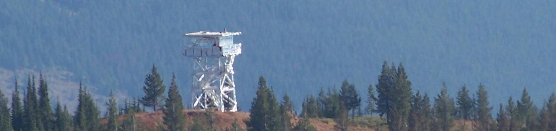 Gem Peak LookoutGem Peak Lookout wrapped for fire protection