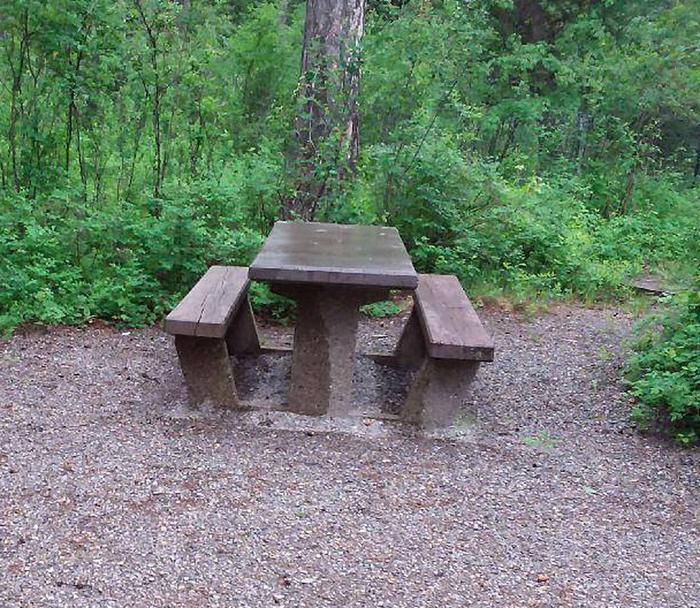 N. Dickey Lake Site 2-table