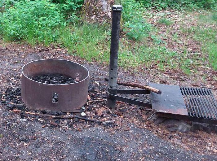 N. Dickey Lake Site 5-fire pit