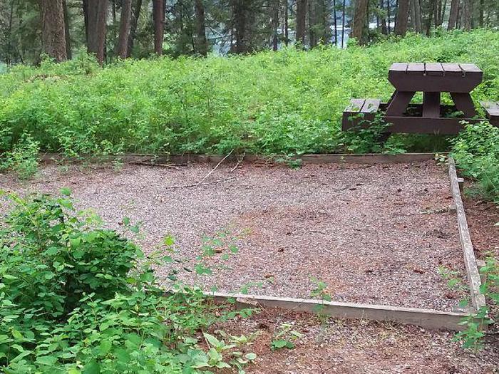 N. Dickey Lake Site 6-tent pad