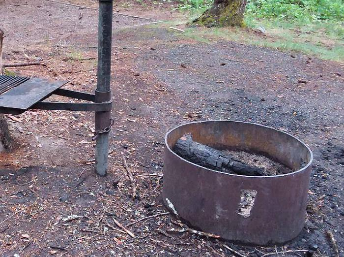 N. Dickey Lake Site 8-fire pit