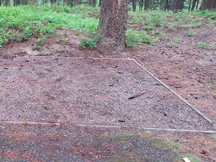 N. Dickey Lake Site 8-tent pad