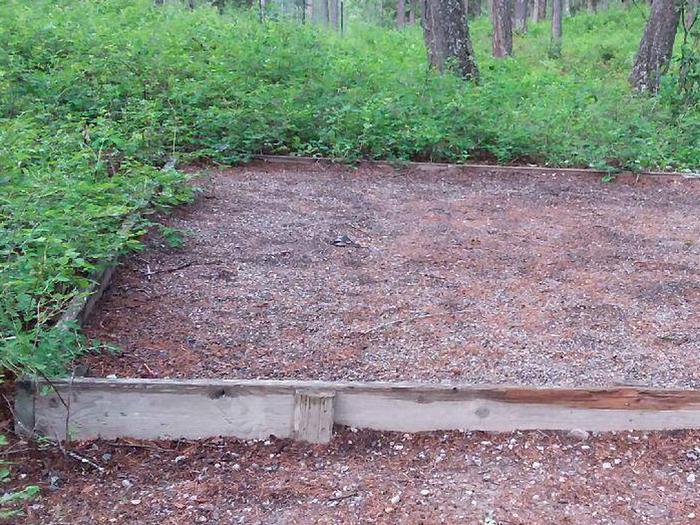 N. Dickey Lake Site 12-tent pad