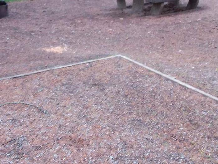 N. Dickey Lake Site 13-tent pad