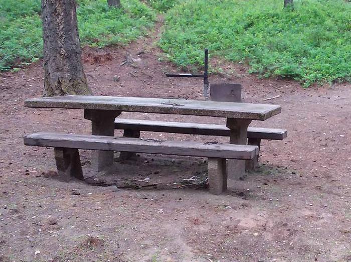 N. Dickey Lake Site 14-table
