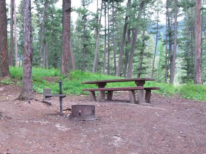N. Dickey Lake Site 15-table