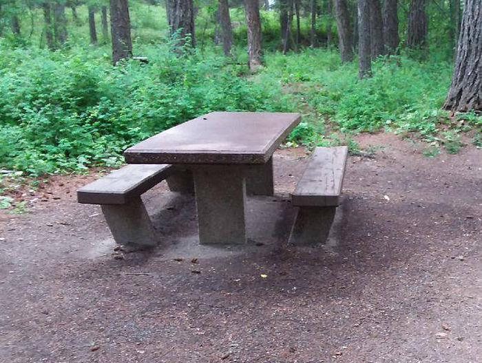 N. Dickey Lake Site 18-table