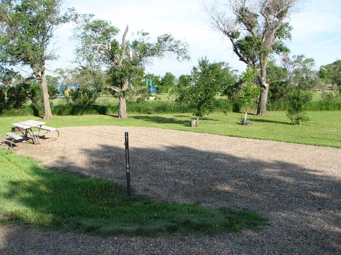 Hazelton Recreation Area campsite #27 Non-ElectricCampsite #27 is a Non-Electric back-in campsite with a gravel pad.  The site contains a fire ring and picnic table.