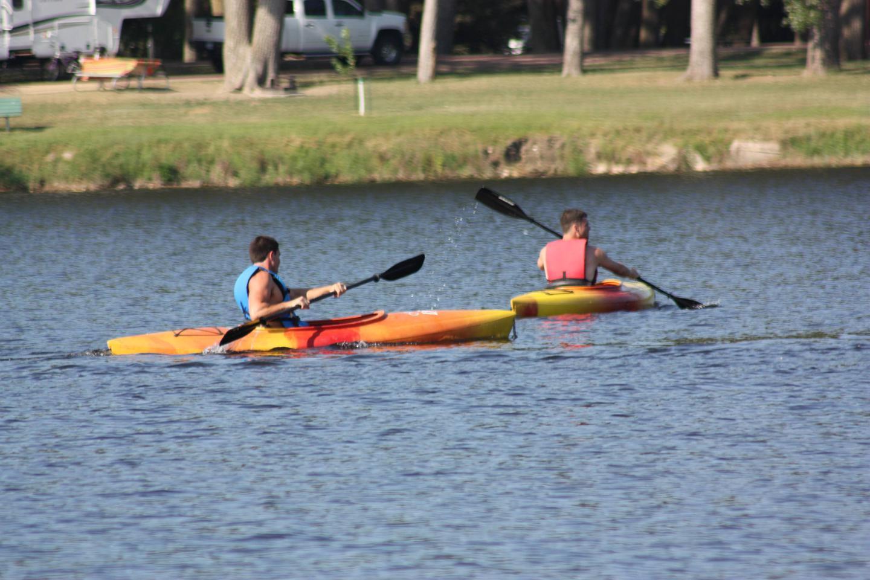 Kayaking Lake Yankton