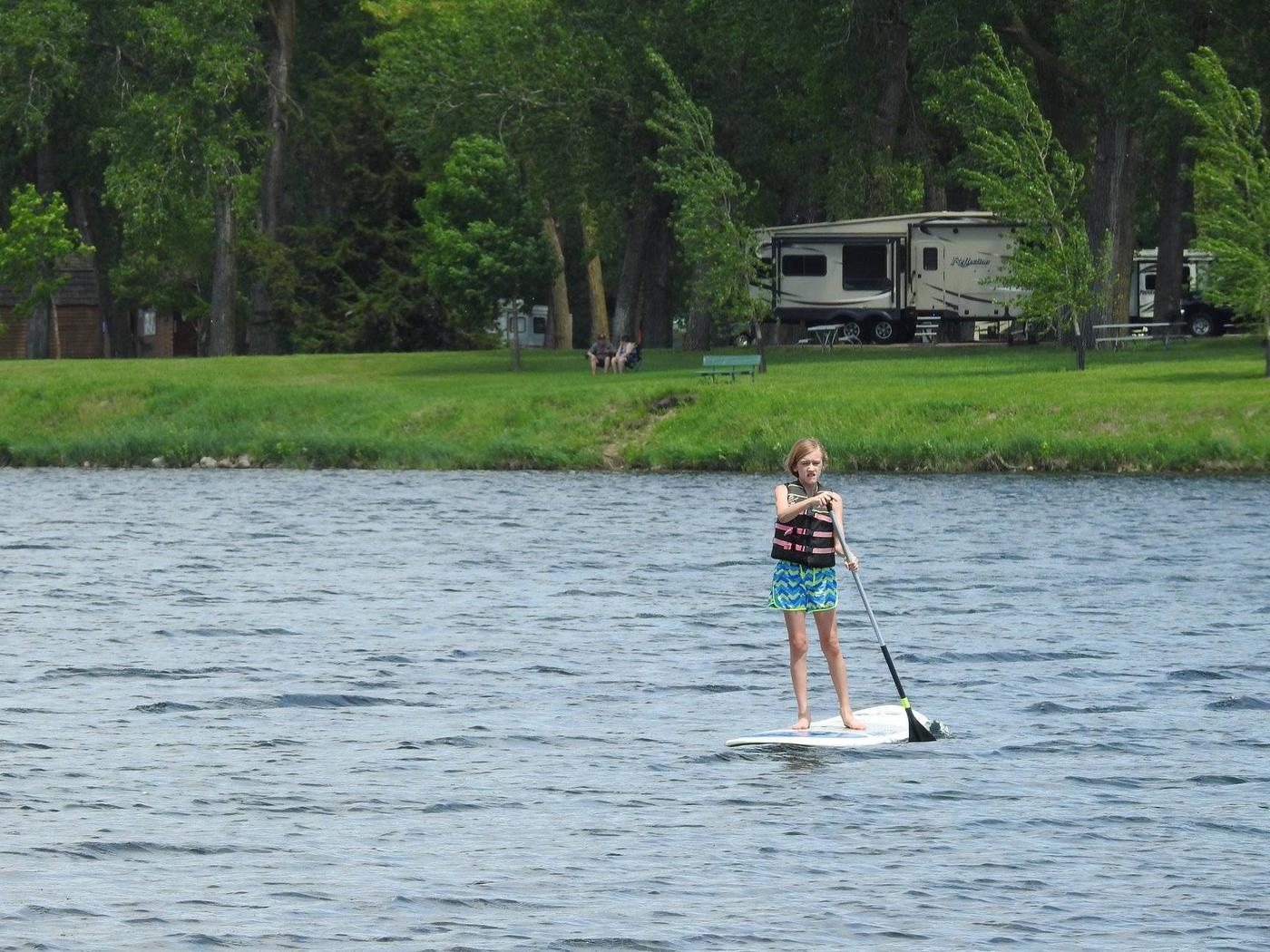 Paddling Lake Yankton