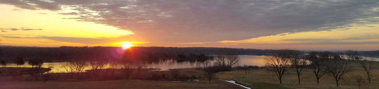 Sunrise over Lake Yankton & Cottonwood Campground