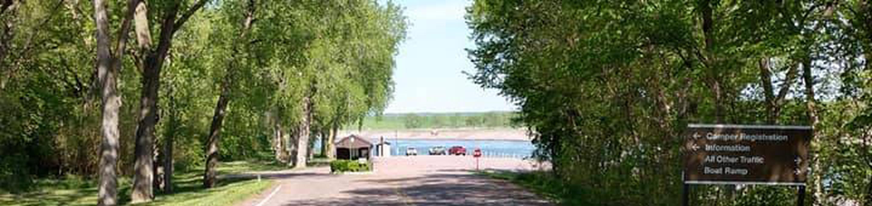 Nebraska Tailwaters entrance road
