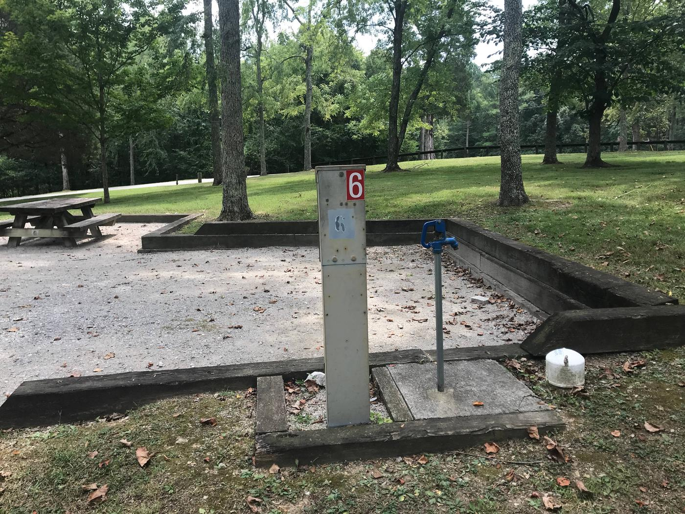 WILLOW GROVE CAMPGROUND SITE # 6 UTILITIESWILLOW GROVE CAMPGROUND SITE # 6 WHITE CAP IS WATER VALVE, NOT SEWER