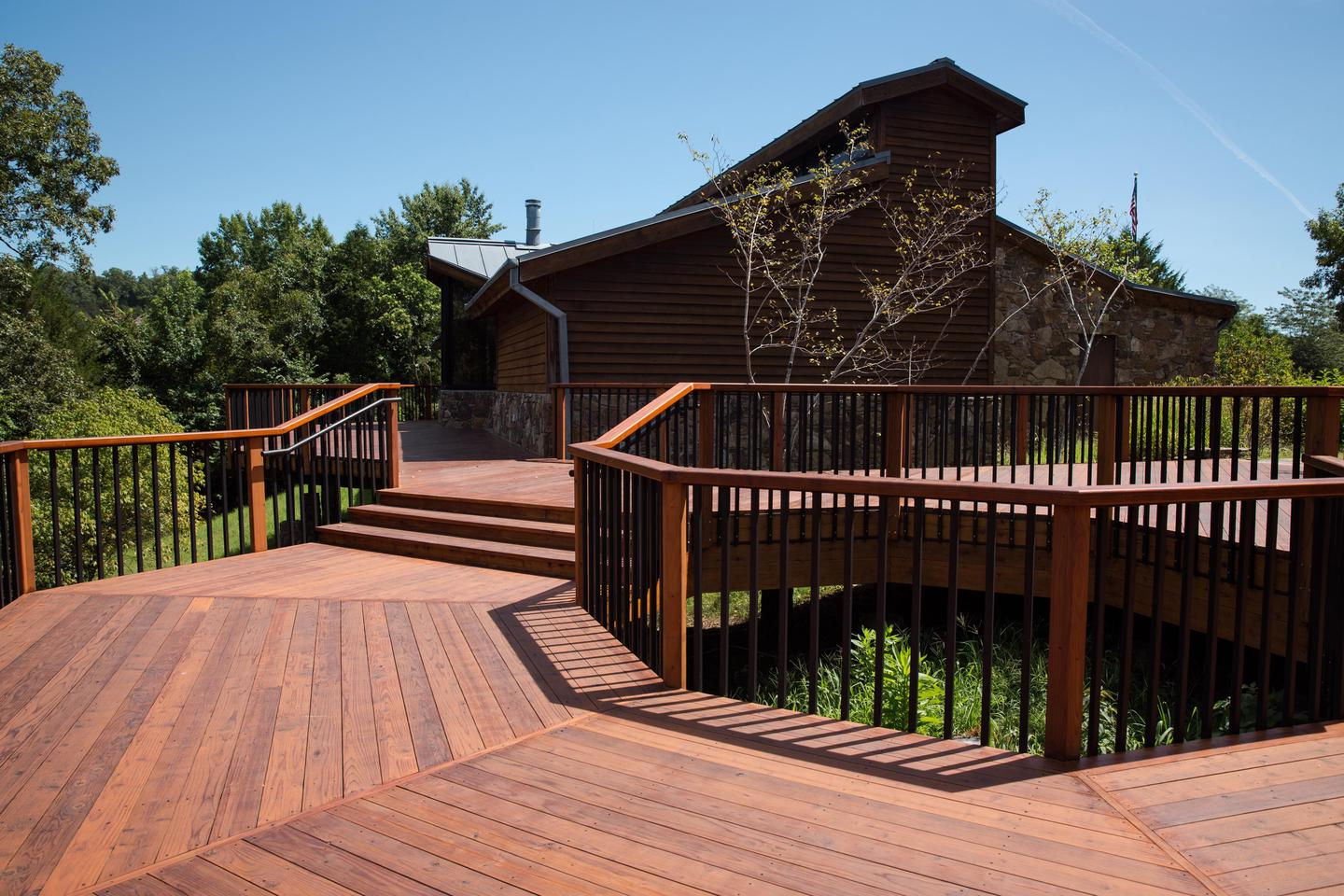 Tyler Bend Visitor Center DeckThe deck is a great spot to take in views at the Tyler Bend Visitor Center.
