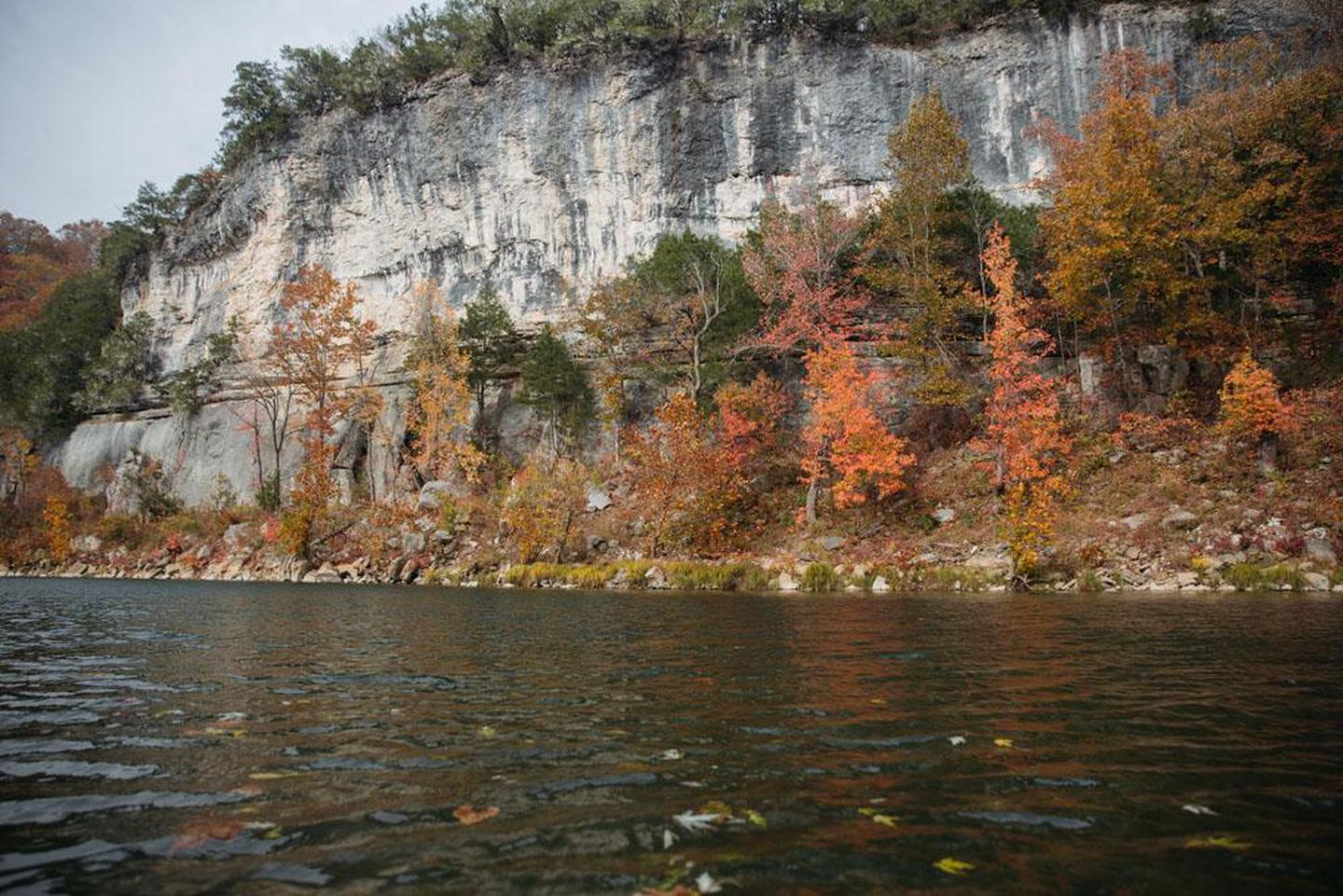 Bluffs at Tyler BendBluffs provide a dramatic backdrop to the river at Tyler Bend.