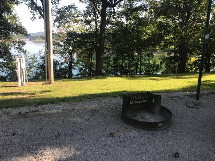 WILLOW GROVE CAMPGROUND SITE #43 FIRE RING AND LAKE VIEWWILLOW GROVE CAMPGROUND SITE #43