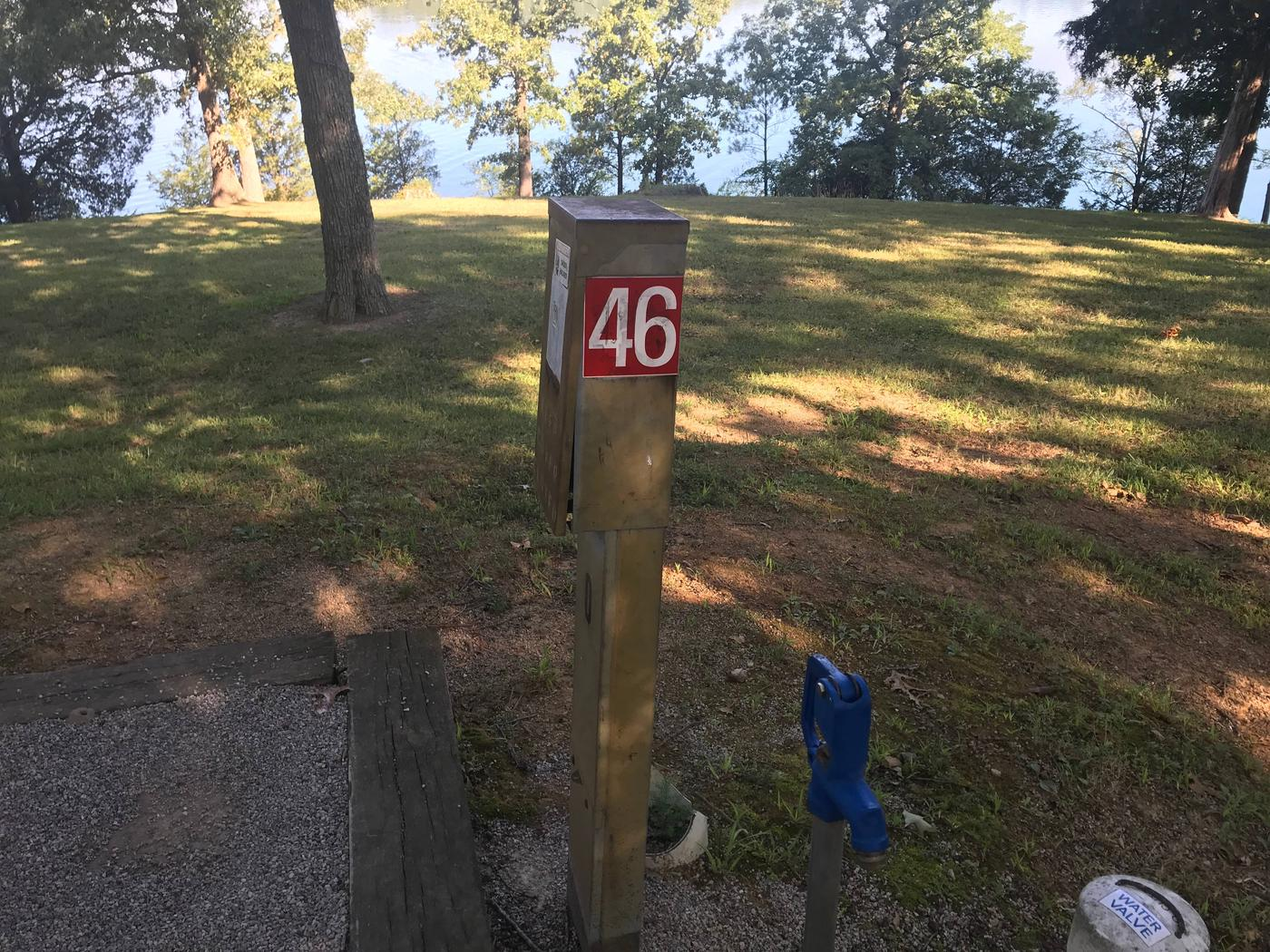 WILLOW GROVE CAMPGROUND SITE #46  UTILITIESWILLOW GROVE CAMPGROUND SITE #46  WHITE CAP IS WATER LINE, NOT SEWER