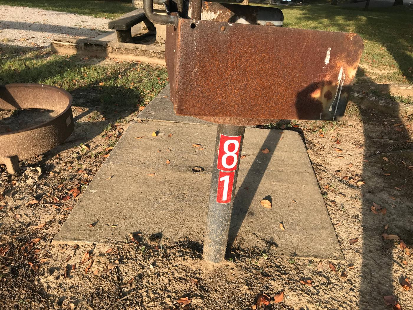 WILLOW GROVE CAMPGROUND SITE #81 PEDESTAL GRILL WITH SITE NUMBER (2)WILLOW GROVE CAMPGROUND SITE #81