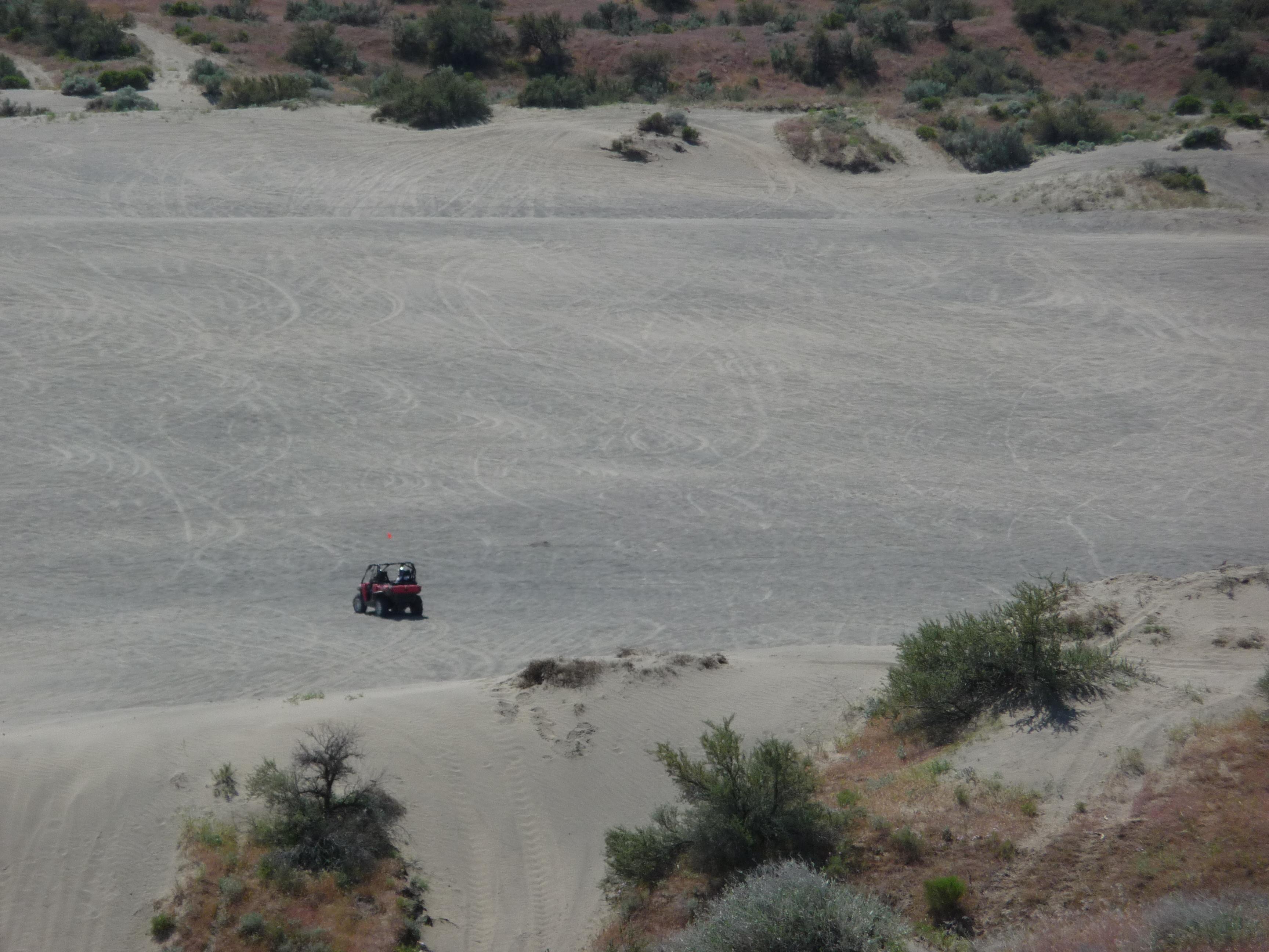 Four-wheeling Juniper Dunes OHV Area