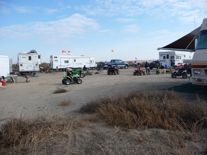 Staging at Juniper Dunes OHV