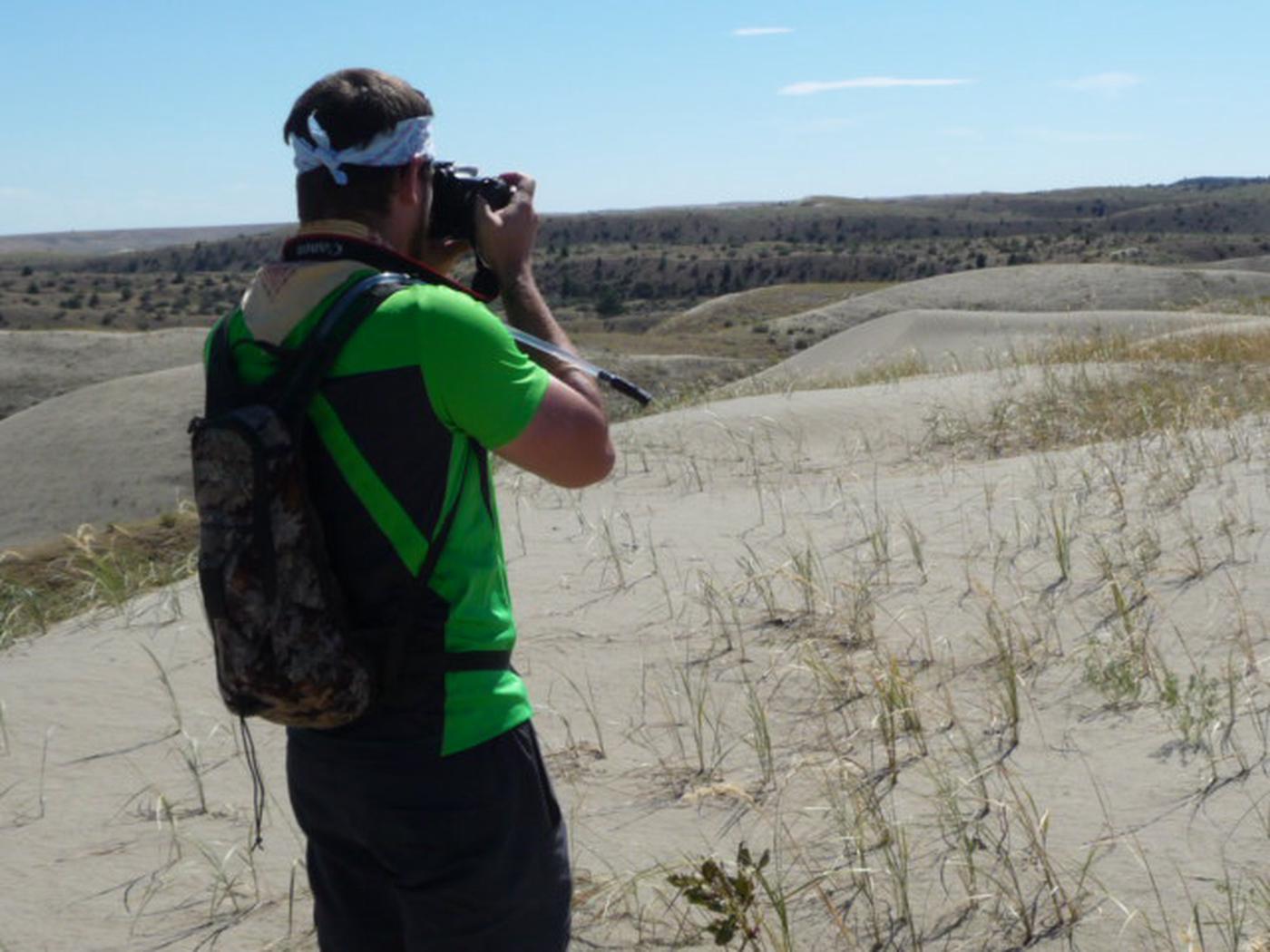 Photographer at Juniper Dunes Wilderness
