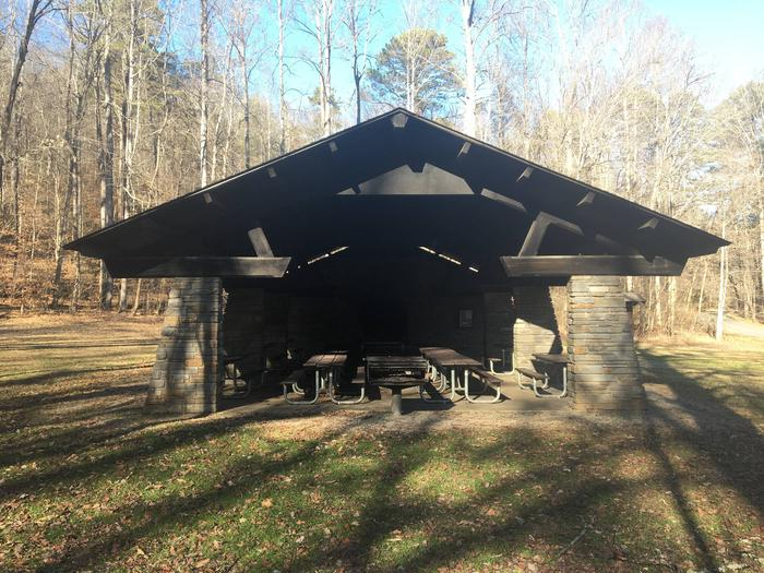 Deep Creek Picnic Pavilion Grill and SeatingSeating and Grill
