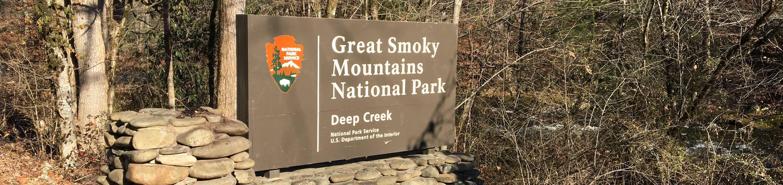 Deep Creek Entrance Entrance sign for the Deep Creek area