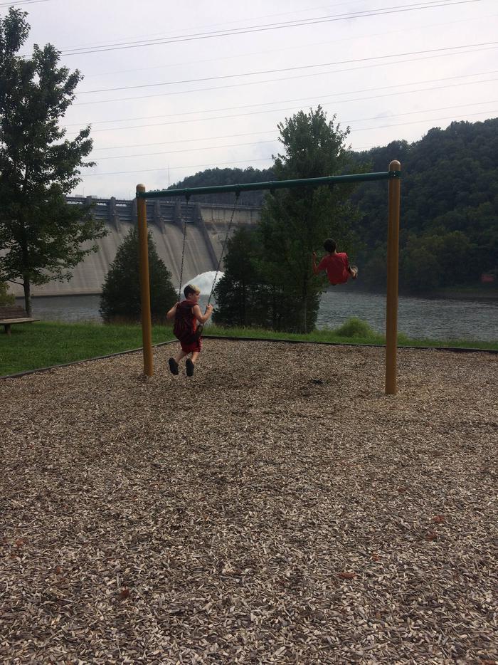 Kendall Recreation Area below Wolf Creek DamHaving a fun day at Kendall