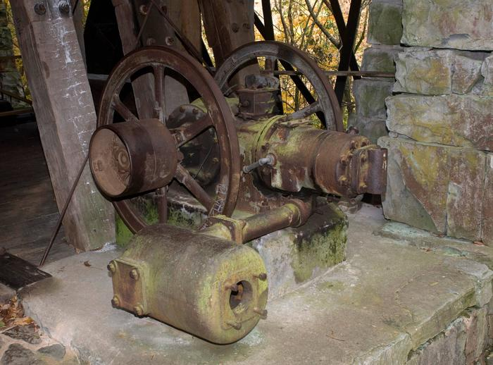 MillOld piece of machinery at Mill