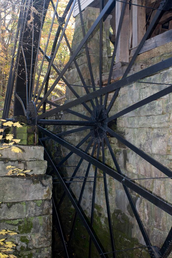 Mill WheelThe largest overshot wheel still in operation in United States