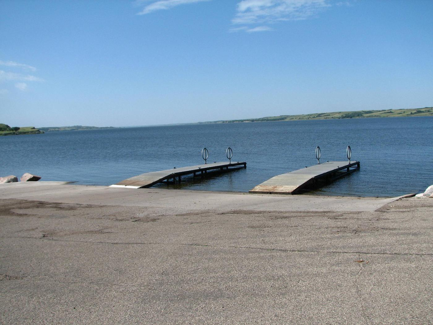 Beaver Creek Recreation Area Boat RampBeaver Creek Recreation Area has a 3 lane boat ramp with 2 docks in the campground for quick easy access on and off of Lake Oahe.