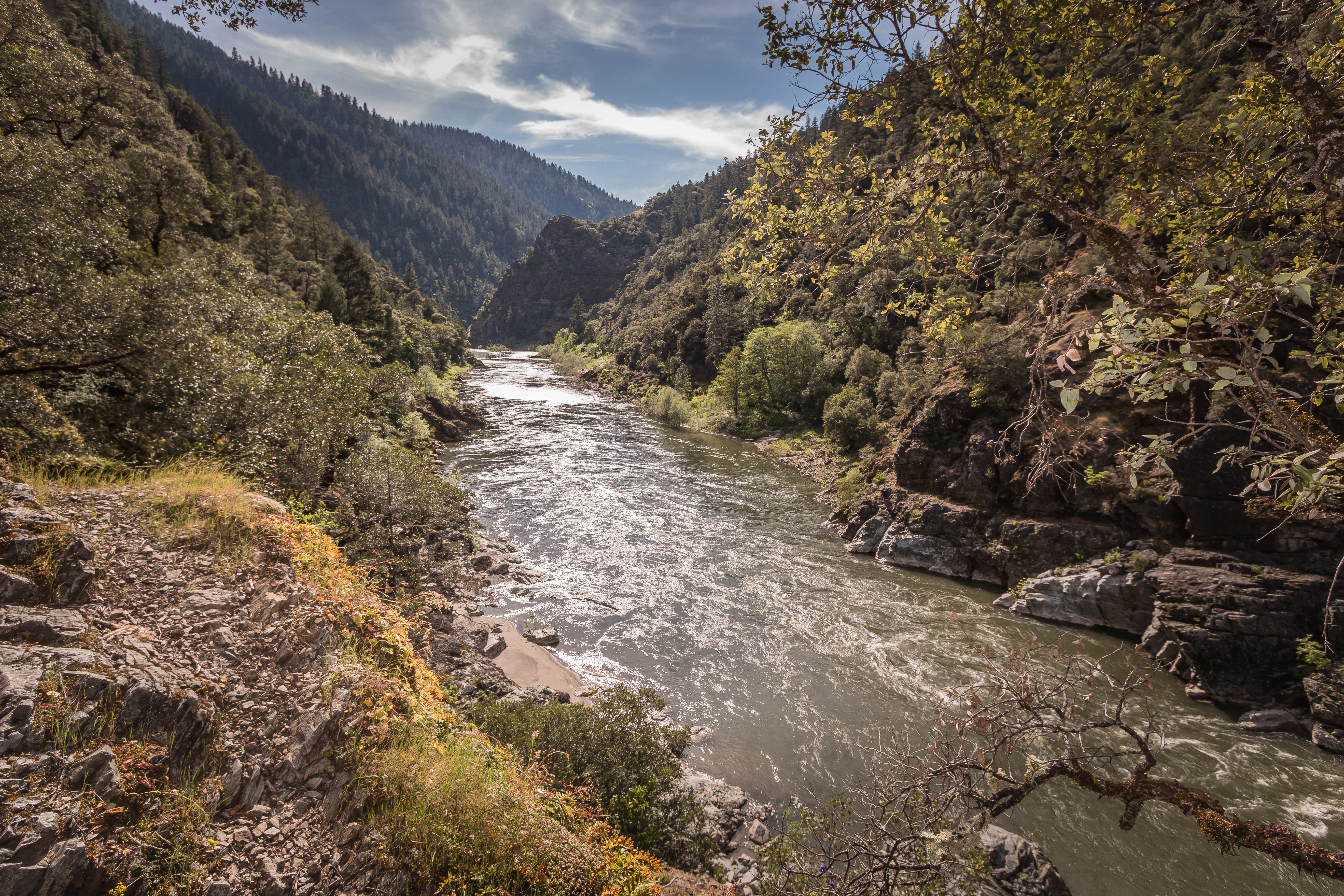 Trailside view of Rogue River, May 4, 2017.