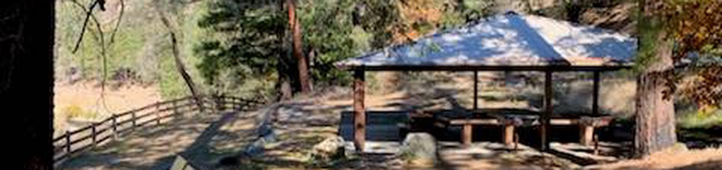 Shelter at Pigeon Point Group CampgroundShelter overlooking river