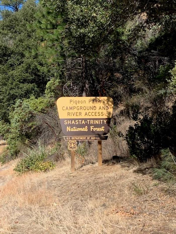 Entrance sign for Pigeon Point