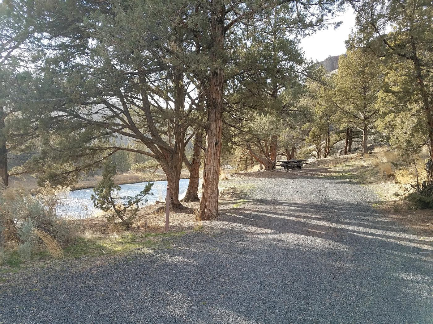 View of road at Palisades Campground