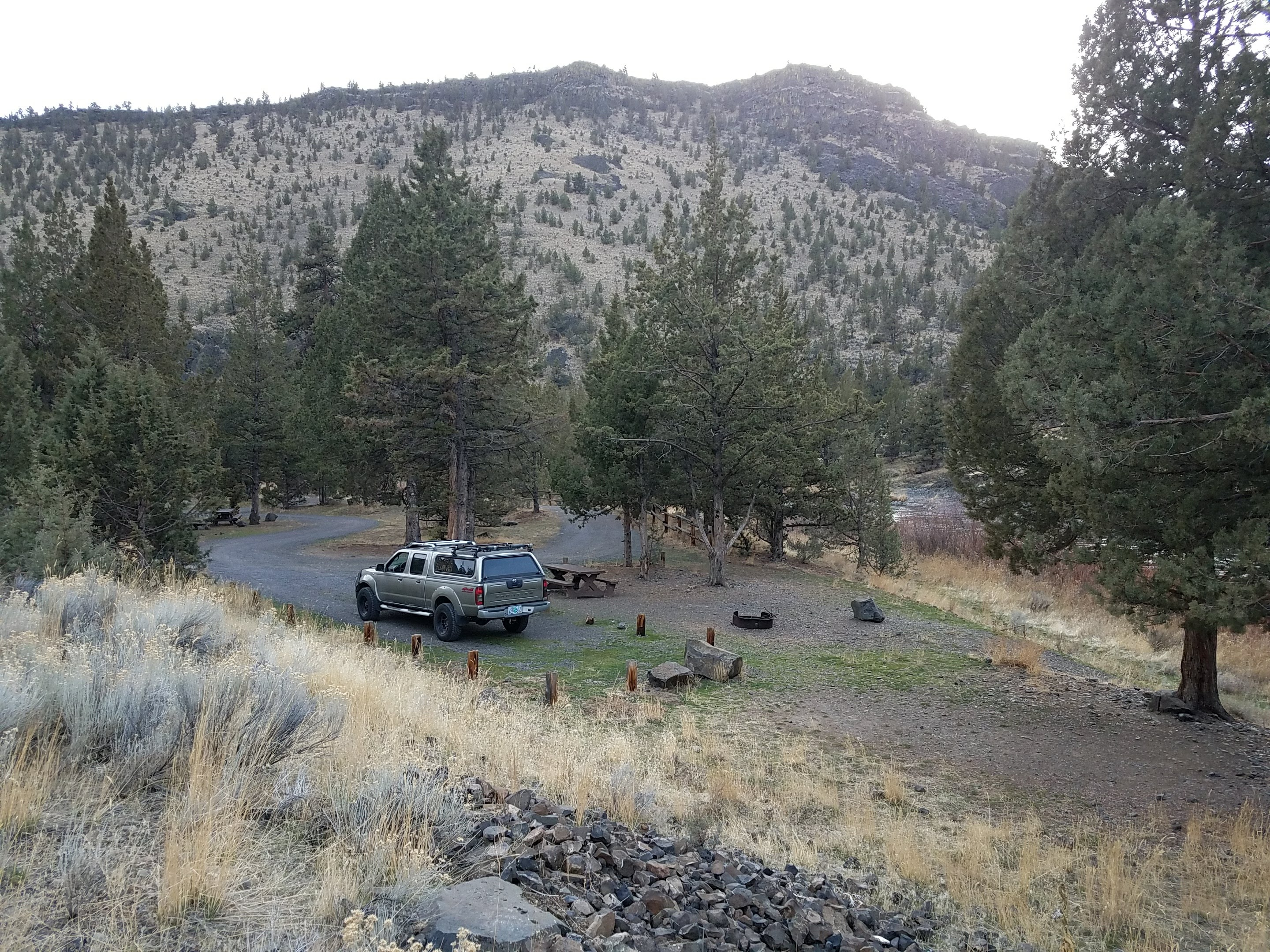 Campsite at Lone Pine Campground