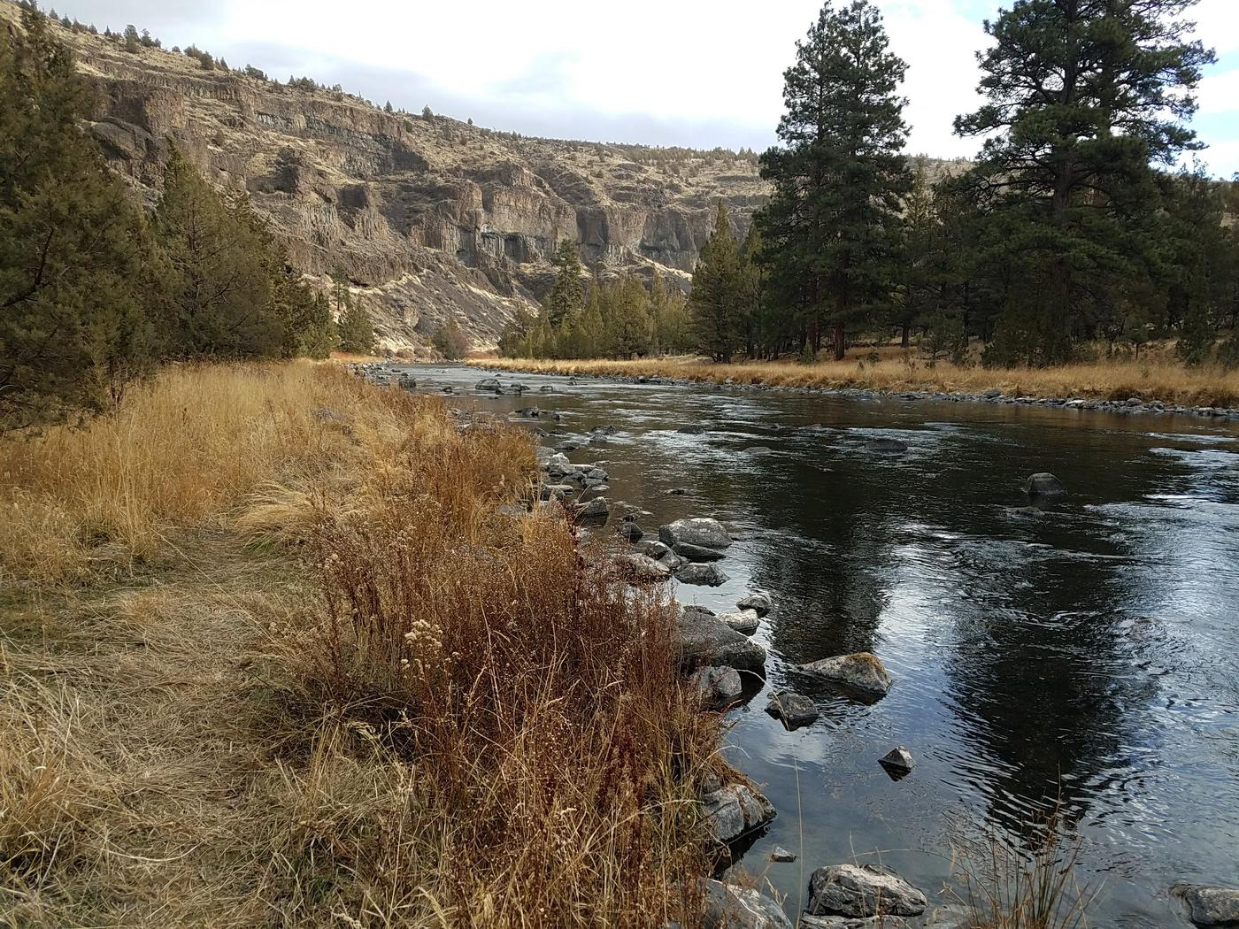 Crooked River at Poison Butte Campground