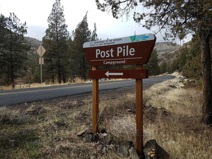 Post Pile Campground Sign