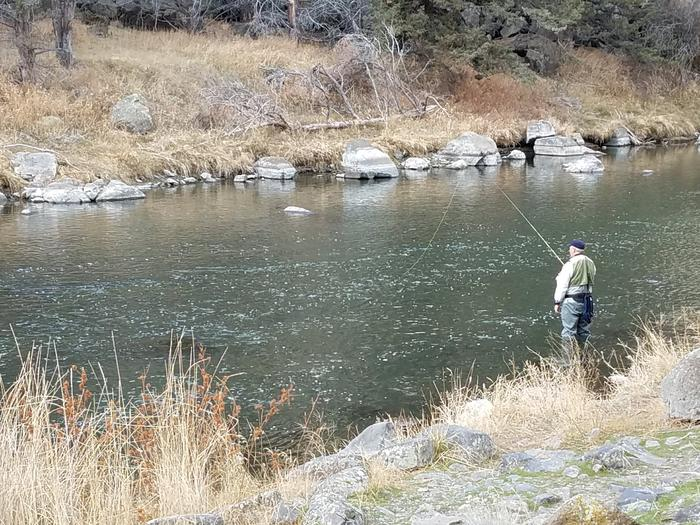 Fishing the Crooked River at  Big Bend Campground