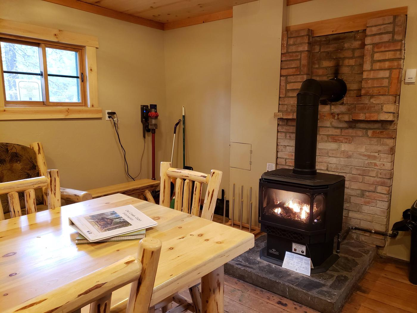 View of propane fireplacePropane Fireplace