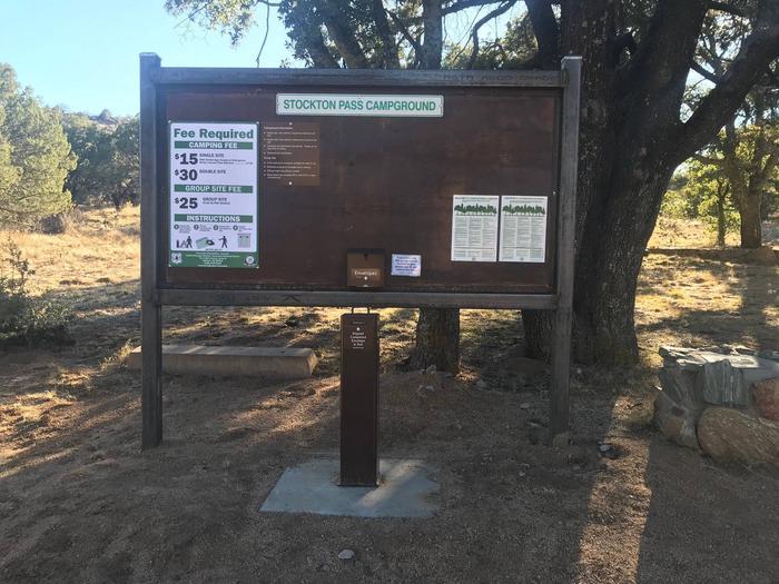 Stockton Pass Fee Board